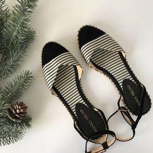Ivanka Trump Espadrille Striped Shoes